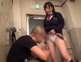 Sexy Japanese AV Model in school uniform enjoying hardcore action picture 5