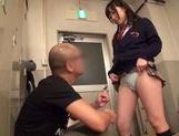 Sexy Japanese AV Model in school uniform enjoying hardcore action picture 6