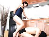 Wild Tsuna Nakamura female domination with footjob picture 5