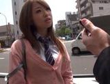 Alluring Japanese AV Model cock sucking and cock riding! picture 4