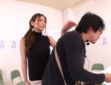 Hot female teacher Yuna Shiina and hot guy like oral sex games picture 13