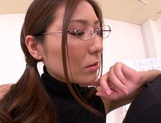 Hot female teacher Yuna Shiina and hot guy like oral sex games picture 14