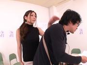Hot female teacher Yuna Shiina and hot guy like oral sex games