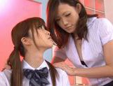 Sexy teacher Rina enjoys lesbian action