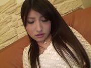 Playful Asian amateur Saki Kobashi gets masturbated