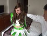 Lovely Asian model in cheerleader outfit hot Race Queen picture 13