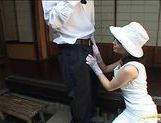 Japanese model gives a blowjob picture 19