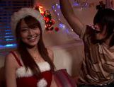Akiho Yoshizawa has a hot threesome for xmas!