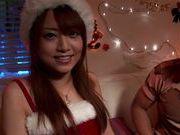 Akiho Yoshizawa has a hot threesome for xmas!