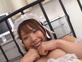 Delicious Japanese vixen Ai Uemura gets her anal inserted with a finger