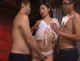 Two Guys Give MILF Makoto Yuuki Hot Sticky Facials picture 6