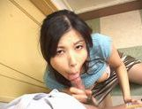 Hot Japanese babe sucks cock like mad picture 15