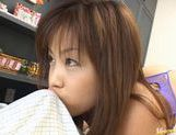 Yuka Matsushita Sucks Dick And Licks Balls For Cum picture 6