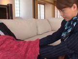 Stewardess Akiho Yoshizawa works magic with her feet in pantyhose picture 13