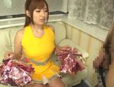Hot busty Asian chick Kokomi Naruse gives blowjob picture 11