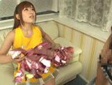 Hot busty Asian chick Kokomi Naruse gives blowjob picture 12