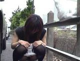 Naughty Yuzuki Hatano exposes herself in public