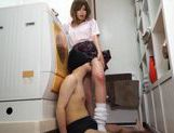 Horny Nonoka Momose gives footjob and gets hot cumshot