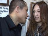 Misuzu Takashima masturbates and sucks a hard cock