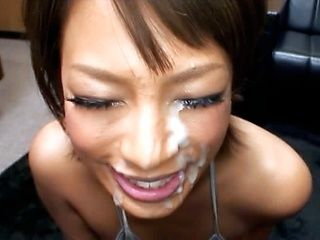 A Big Load Of Cum For This Hot Chick's Lovely Face