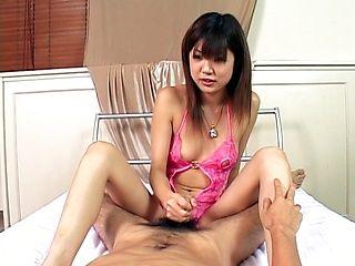 Horny babe Rika Hayama gets creamed