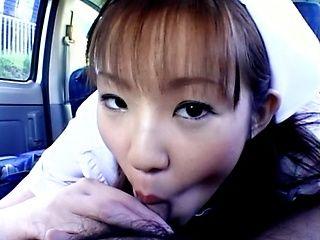 Mari Yamada stunning nurse blowjob