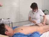 Asian nurse gets busy with a stiff dong to fuck picture 11