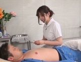 Asian nurse gets busy with a stiff dong to fuck