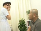 Lusty Japanese nurse licks ass and deepthroats her lover's ramrod