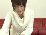 Naughty oral trio with a horny Japanese cutie picture 12