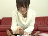 Naughty oral trio with a horny Japanese cutie picture 13