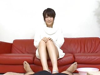 Naughty oral trio with a horny Japanese cutie