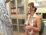 Japanese nurse Satou Haruka gets nailed in threesome