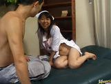 Hot Japanese nurse fucks like crazy!