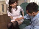 Kinky and petite nurse teasing, fondled and hard fucked