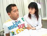 Young and hot nurse Saki Budou makes sure her patient is happy picture 15