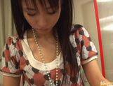 Hottie Momo Junna receives a wet creampie