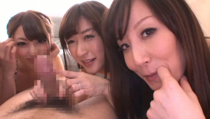 Steaming Tokyo milfs share one hard cock and ride it hard on pov picture 12