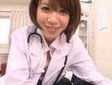 Japanese AV Model is a wild nurse sucking cock