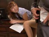 Kokone Mizutani lusty Asian milf fucks in the office