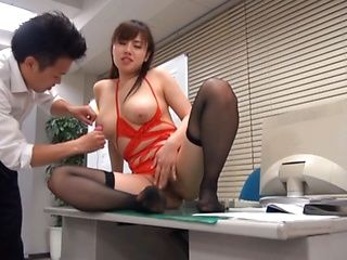 Azumi hot Asian office lady enjoys hardcore sex at work