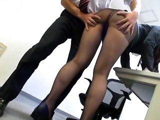 Alluring hot milf in office fuck a thon with guys