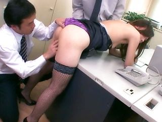 Aiko Hirose Asian model is a sexy office lady