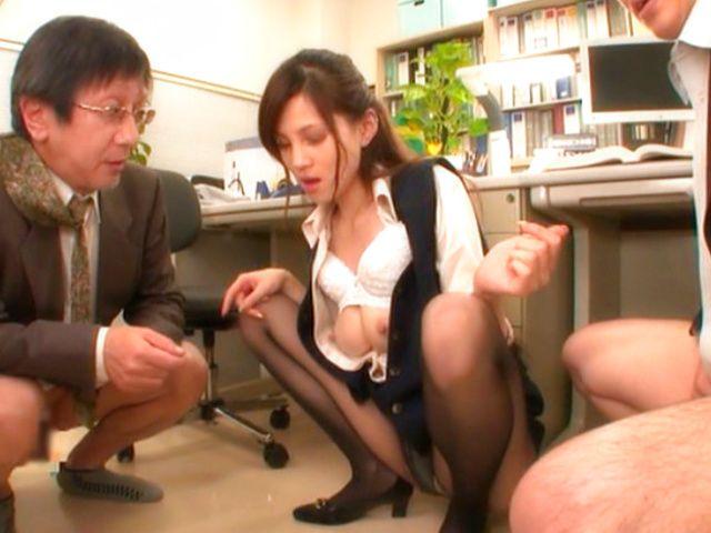 Lingerie double blowjob emo secretary