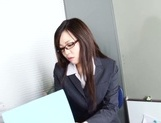 Leggy office lady Nozomi Yui gets seduced and enjoys hot copulation picture 11