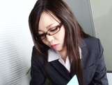 Leggy office lady Nozomi Yui gets seduced and enjoys hot copulation picture 12