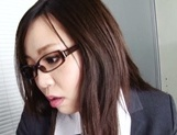 Leggy office lady Nozomi Yui gets seduced and enjoys hot copulation picture 13