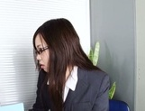 Leggy office lady Nozomi Yui gets seduced and enjoys hot copulation picture 14