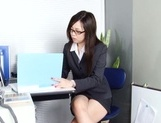 Leggy office lady Nozomi Yui gets seduced and enjoys hot copulation picture 15
