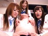Group of school babes fucks an older guy only to get cum in they mouths! picture 12